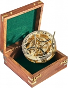 Panama Sundial in wooden gift case